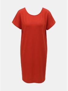 Červené šaty s krátkym rukávom Jacqueline de Yong Camilla