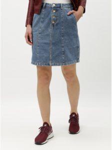 Modrá rifľová sukňa s gombíkmi Jacqueline de Yong Lola