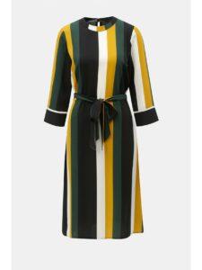 8c573247e46b Žlto–čierne pruhované šaty so zaväzovaním Dorothy Perkins
