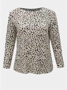 Béžový voľný sveter s gepardím vzorom Dorothy Perkins Curve