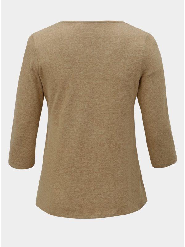 Béžový tenký sveter s ozdobnou sponou Dorothy Perkins Curve