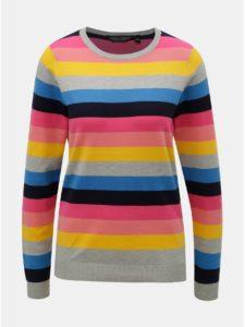 Sivo–ružový pruhovaný sveter Dorothy Perkins