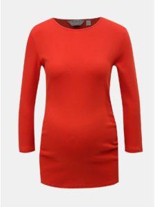 Červené tehotenské tričko s 3/4 rukávom Dorothy Perkins Maternity