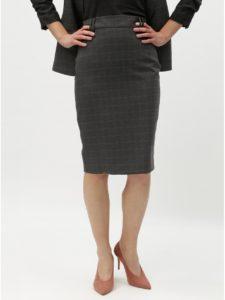 bd6ab7d3d2d8 Sivá kockovaná puzdrová sukňa Dorothy Perkins