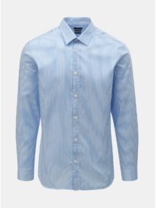Bielo–modrá pruhovaná slim fit košeľa Selected Homme Slimpen