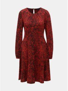 Čierno–červené šaty s gepardím vzorom Dorothy Perkins