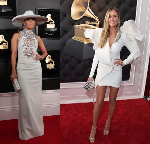 Jennifer Lopez a Heidy Clum vyzerajú dokonale v bielych šatách