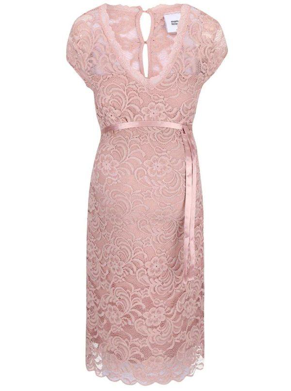 Svetloružové čipkované šaty Mama.licious New Mivana