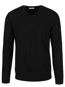 Čierny sveter z Merino vlny Selected Homme Tower