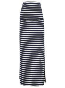 Modro-biela pruhovaná tehotenská sukňa Mama.licious Lea