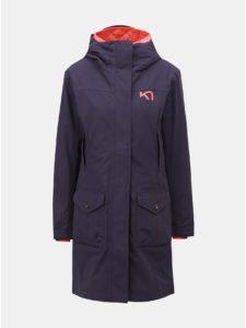 Fialový kabát s vnútorným tenkým odnímateľným kabátom Kari Traa Dalane