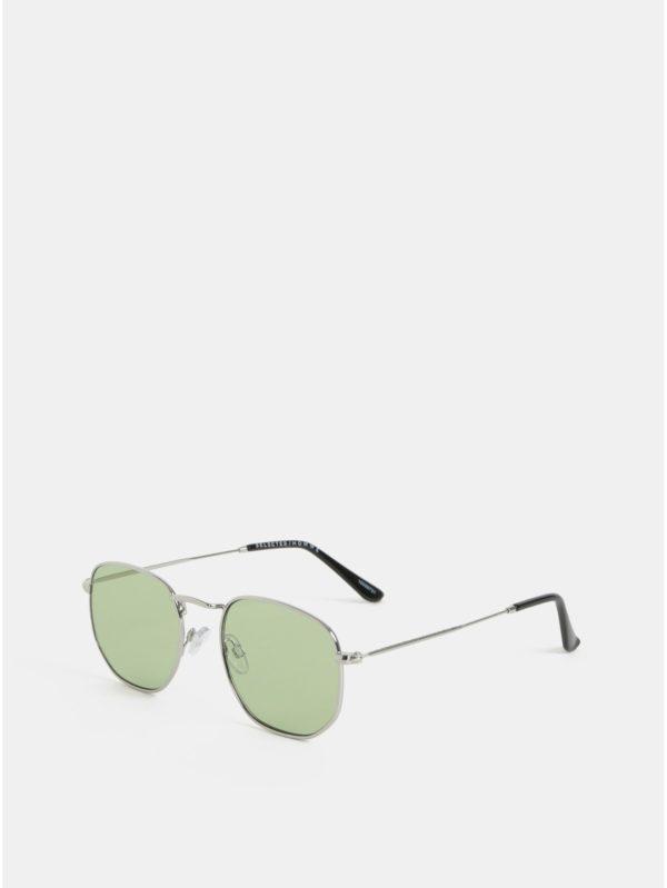 Slnečné okuliare v striebornej farbe Selected Homme Kristian