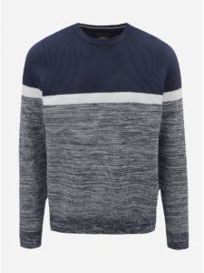 Bielo–modrý melírovaný sveter Burton Menswear London
