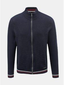 Tmavomodrý sveter na zips Burton Menswear London