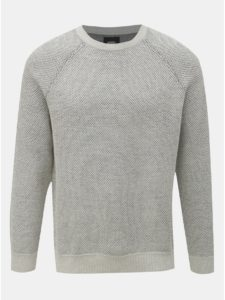 Svetlosivý melírovaný sveter Burton Menswear London