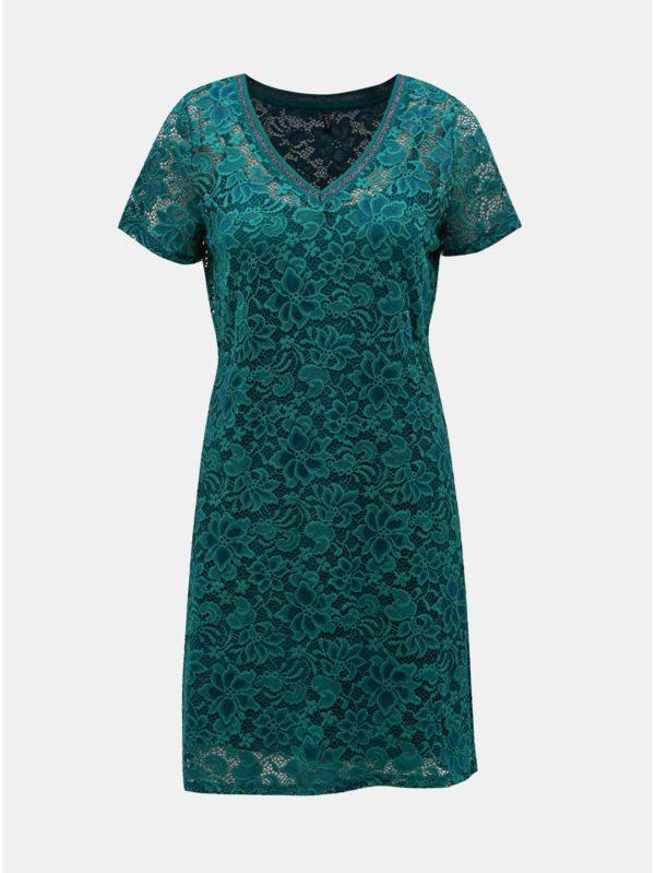 Tmavozelené čipkované šaty ONLY Amaze
