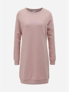 Ružové mikinové šaty ONLY Mynte