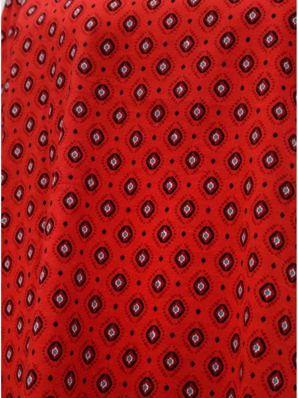 Červená vzorovaná blúzka ONLY Olivia
