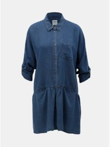 Modrá dlhá rifľová košeľa ONLY Klinn