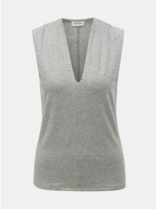 Sivé melírované tričko bez rukávov VERO MODA Gava