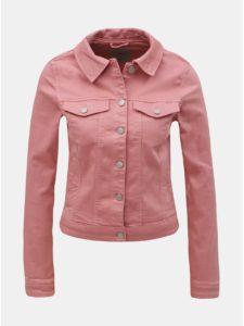 Ružová rifľová bunda VERO MODA Hot a461adacedd