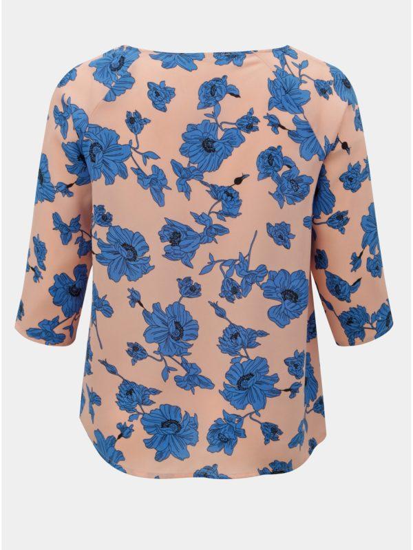 Modro–ružová kvetovaná blúzka ONLY CARMACOMA Sympha