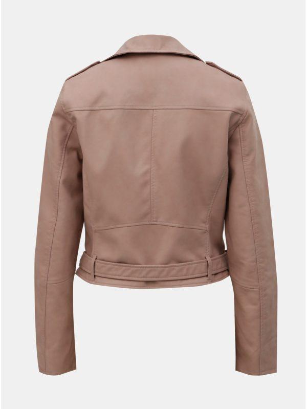 Staroružová koženková bunda ONLY Geena