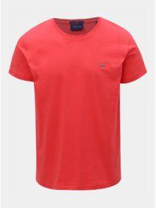 Tmavoružové pánske slim tričko GANT