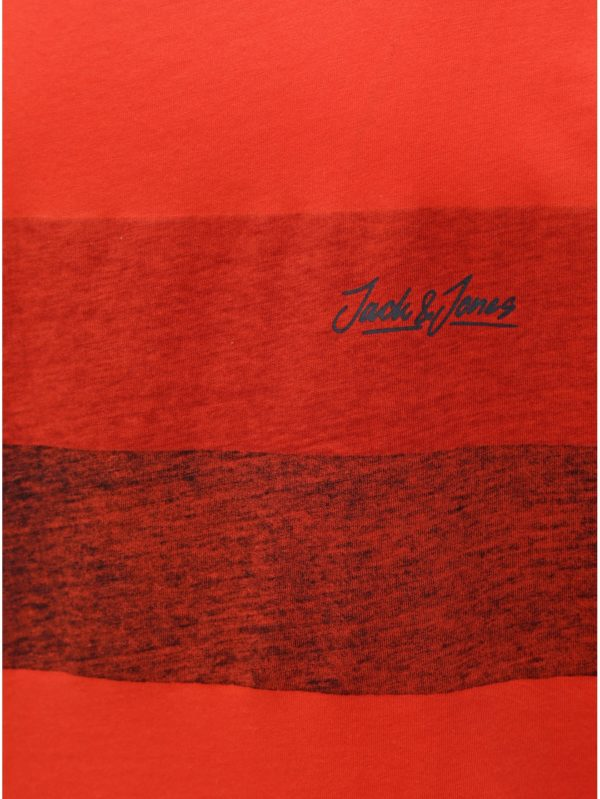 Červené tielko s potlačou Jack & Jones Shakedowns