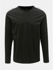 Bielo–čierne slim tričko Jack & Jones Rock