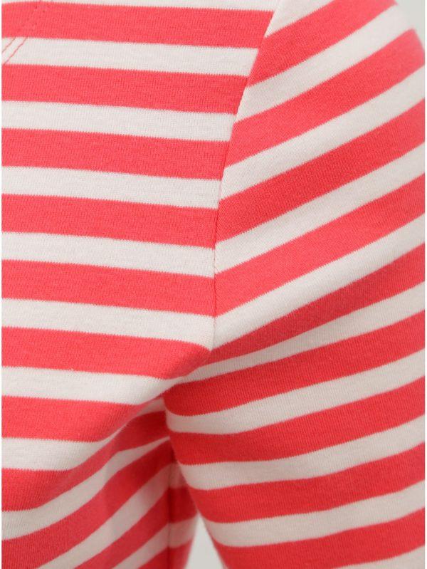Bielo–ružové dámske pruhované tričko GANT
