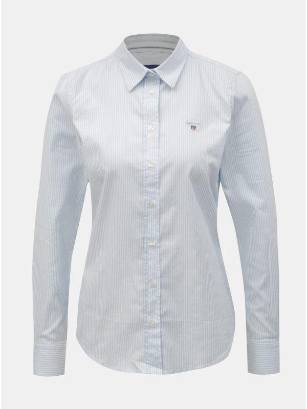Bielo–modrá dámska pruhovaná slim košeľa GANT