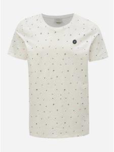 Biele vzorované tričko Jack & Jones Crusoe