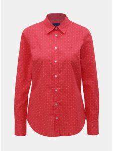 Červená dámska bodkovaná košeľa GANT