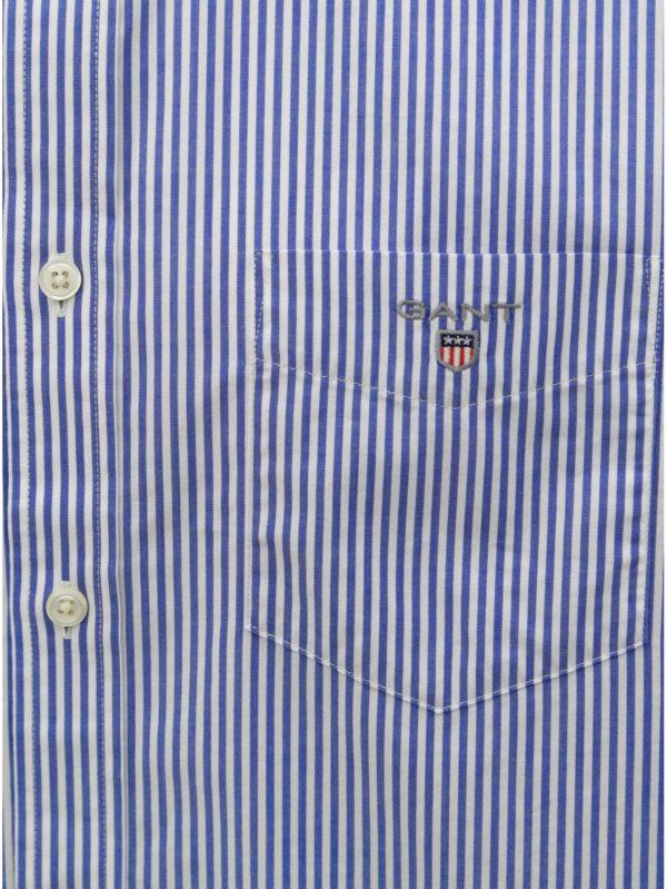 dd45a3ba9a9a Bielo–modrá pánska pruhovaná regular fit košeľa GANT
