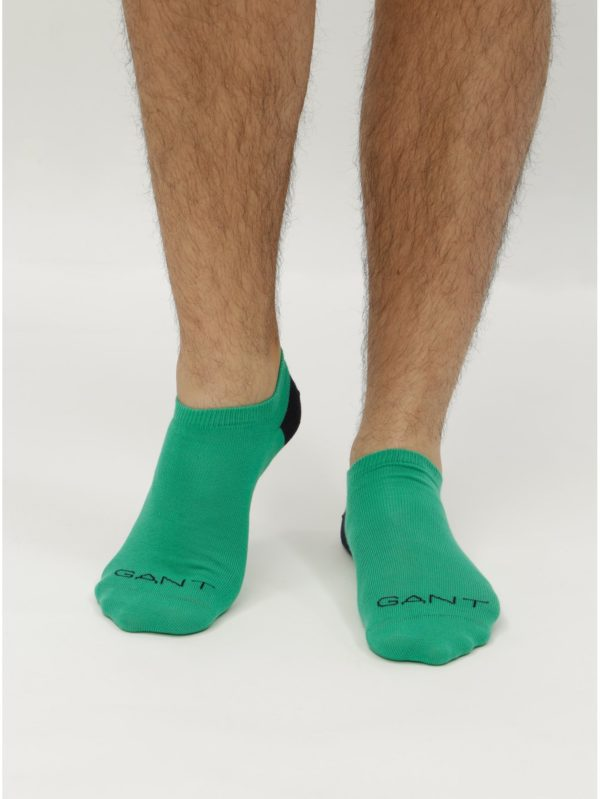 Balenie dvoch párov zelených a modrých nízkych ponožiek GANT