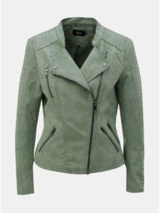 Svetlozelená koženková bunda ONLY Ava