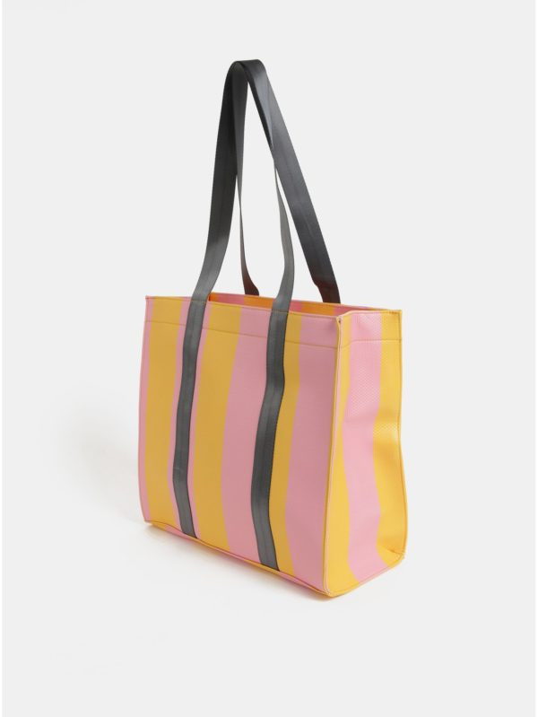 Žlto–ružová kabelka Pieces Briannah