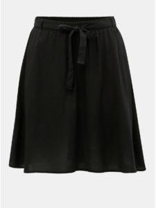 Čierna sukňa so zaväzovaním VERO MODA Boca