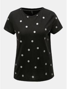 Čierne bodkované tričko ONLY Isabella