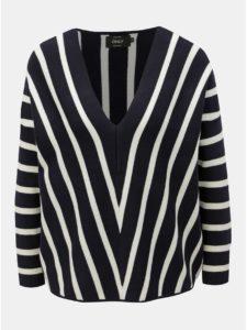 Bielo–modrý pruhovaný sveter ONLY Aya