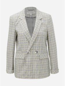 Sivé kockované sako Miss Selfridge