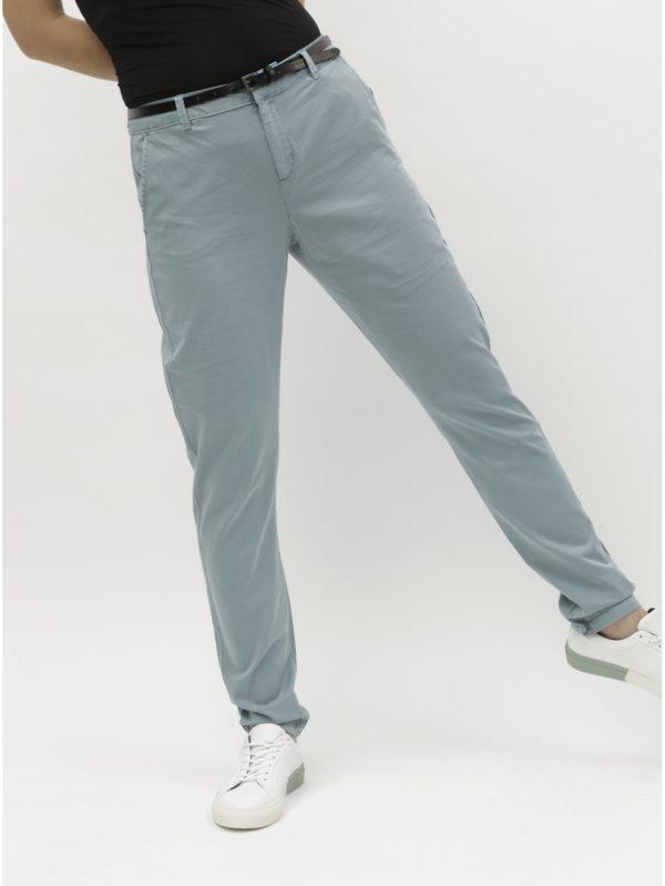 Svetlomodré chino nohavice s opaskom VERO MODA Flash