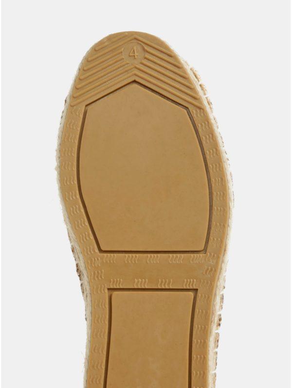 Espadrilky v zlatej farbe Dorothy Perkins