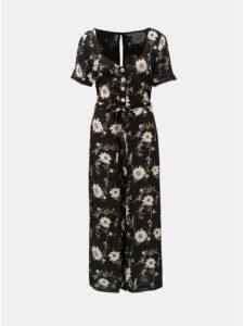 Čierny kvetovaný overal Miss Selfridge