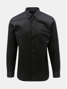 Čierna formálna slim fit košeľa Selected Homme Pen-Pelle