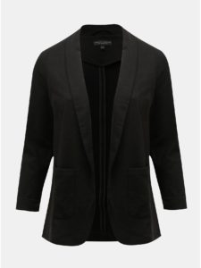 Čierne sako s vreckami Dorothy Perkins Curve