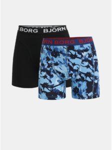 Balenie dvoch boxeriek v čiernej a modrej farbe Björn Borg