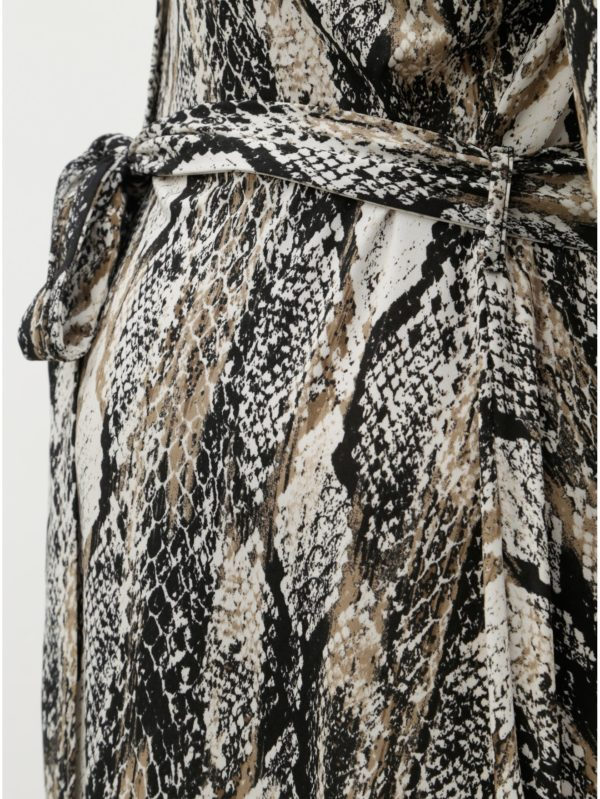 Čierno–béžové tehotenské košeľové šaty s hadím vzorom Dorothy Perkins Maternity