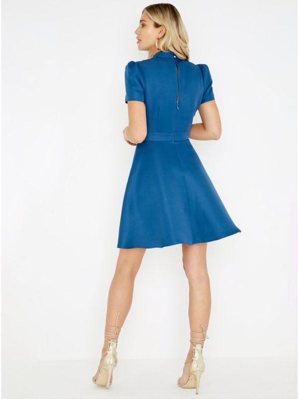42246940e676 Modré šaty s čipkou Little Mistress